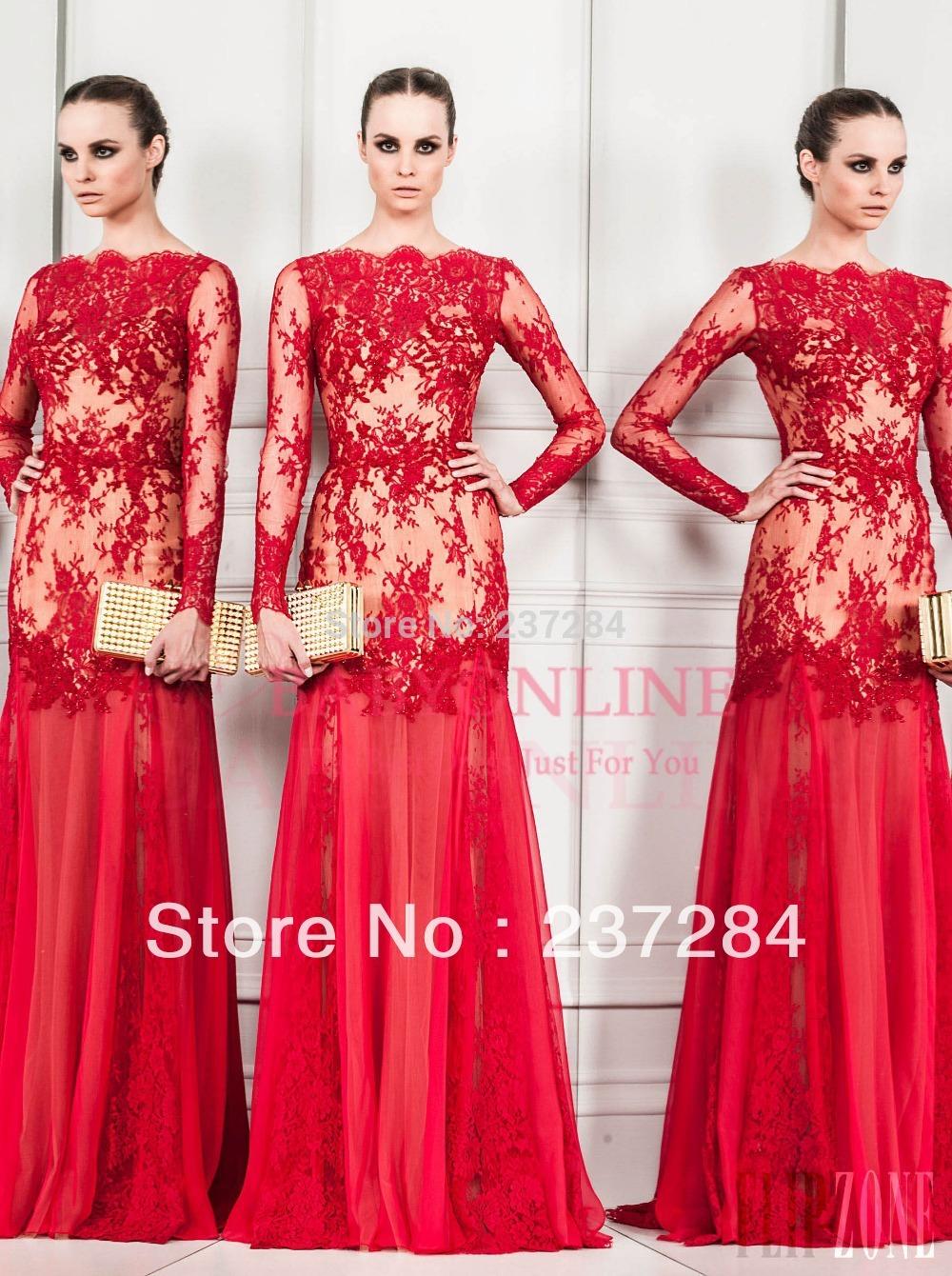 Long Sleeves Mermaid Dress Dresses 2014-long-sleeves