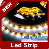 EMS DHL UPS Free Shipping 5M 500CM 3528 SMD 300 Leds White Waterproof Led Strip Yellow PCB 100m/lot