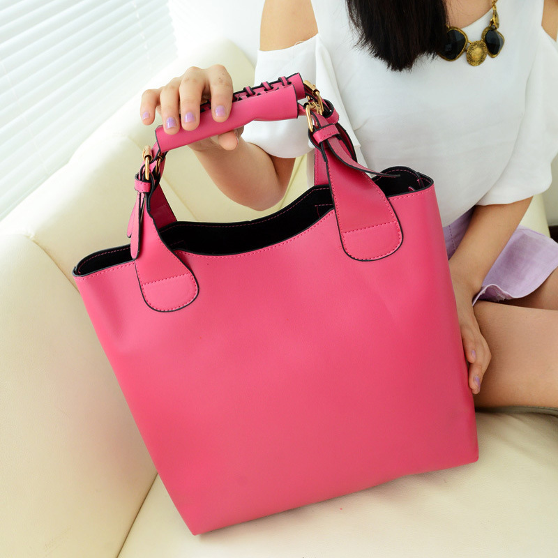 2014 New Vintage bag Leather bags women Celebrity Tote Shopping Bag Handbag Free Shipping drop shipping W2002(China (Mainland))