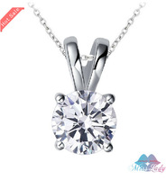 Wholesales Fashion Jewelry Silver Plated  Zircon Crystal design Quartet brand necklace for women 1227