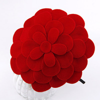 Min.order is $10 (mix order) fashion noble  (135*125mm )Multilayer big  flowers haiebands hair jewelry!  Free shipping H3013