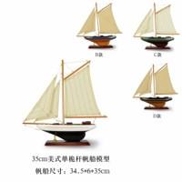Hh handmade wool american mast sailing boat model business gift birthday kitchen cabinet decoration