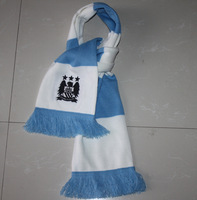 Manchester city fans scarf with Logo free shipping