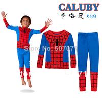 New design Kids Pyjamas Set Baby Boy's spider-man Long Sleeve Sleepwear Children Wear baby Homewear clothing XC331