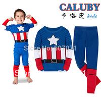 2014 New design Kids Pyjamas Set Boy Long Sleeve Sleepwear Children Wear baby Homewear clothing XC332
