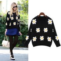 Free Shipping autumn winter beading vestidos beading plus xxxxl wool casual dress big size women clothes DM132074