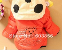 NEW Kids Baby Children's Winter Jackets Down Outerwear Girl Boys Hoodies Fleece Animal Panda Coats Clothes Size