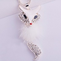 12pcs/lot Wholesale Free Shipping Fashion necklace Sexy Fox Pendant necklace fox Necklaces long design fashion vintage