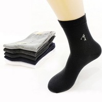 Wholesale socks 1lot=10pairs=20pcs New Arrivel men's short socks business cotton fiber socks solid color brand socks for men