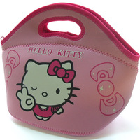 HOT SALE lunch box bag High quality waterproof fabric lunch bag Hello kitty cartoon handbag for women Random color delivery
