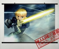2013 Free Shipping Fate zero saber 60 80 - 084 decorative painting mural cloth paintings  1 pcs in stock