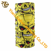 100% polyester yellow skull tube bandana for team