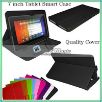 1000pcs/lot, Universal 7 inch Android Tablet Flip Leather Case Protective Cover 7inch PC Leather Smart Case