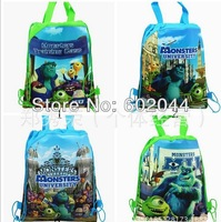 New Design -24Pcs Monsters Cartoon Drawstring Backpack Bag,Children Kids Bag 36X28CM Non-woven Material