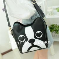 Woman Cnewnew Cartoon Dog Head Shoulder bag PU leather casual Crossbody Bag Mini Personalized Handbag tote