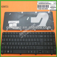 Freeshipping for laptop keyboard UK layout for HP G72 CQ72 BLACK