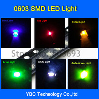Free Shipping 7colorx100pcs=700pcs Brand New 0603 LED SMD Ultra Bright Red/Green/Blue/White/Yellow/Orange/Jade Green LED Diode