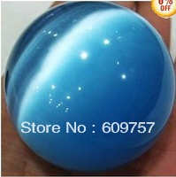 BEAUTIFUL RARE ASIAN QUARTZ Swarovski 60MM +stand Natural Blue Mexican Opal Sphere, Crystal Ball/Gemstone
