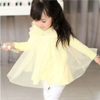Free shipping princess dress for girls spring and autumn with wholesale and retail