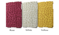 1PCS HOT Leopard Pattern  Cover case for  ipad  Mini with Stand Magnetic  PU leather case 3 color Free shipping