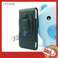 New 100x BELT CLIP HOLSTER Horizontal Magnet Closure Textured PU Leather COVER CASE for Apple iPhone 5 5s 5c