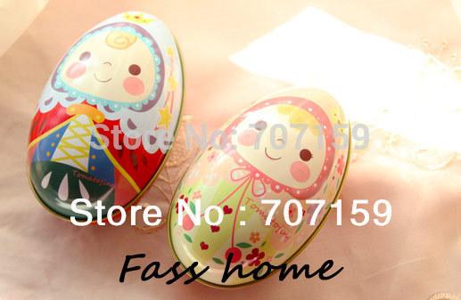 Easter egg Colorful eggs Unique design Large egg tin storage iron box wedding candy box gift Big Size free shipping(China (Mainland))