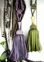 Rayleigh curtain tassel strap hanging ball personality ribbon curtain lashing bandage rope single