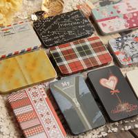 Free shipping Slider business card box mini tin box cardfile magneticpostcard small tin cigarette case