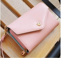IMIXBOX Hot Sell Korean Lovely envelope Purse Wallet Case for Samsung Galaxy S3,S2,Iphone 5/5S,4S/4 Free Shipping W2009