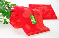 free  shipping Bamboo fibre waste-absorbing mites and the big red wedding word quality towel