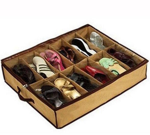 Closet Organizer Under Bed Storage Holder Box Container Case Storer For 12 Shoes(China (Mainland))