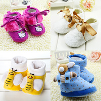 2013 hot new baby soft bottom first walkers baby shoes Cotton-padded snow boots inner size 11cm 12cm 13cm Free shipping  R1061