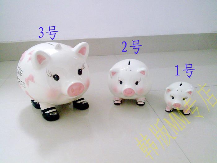 Ceramic pig piggy bank zodiac piggy bank birthday gift(China (Mainland))