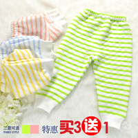 Baby underwear trousers pajama pants newborn baby single pants autumn and winter cotton 100% openable-crotch cotton legging