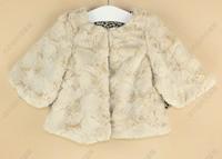 Winter High Quality Faux Fur Girls Small Jacket Coat Buttercup Children Coat Leopard Kids Jacket Baby Outwear QZ336