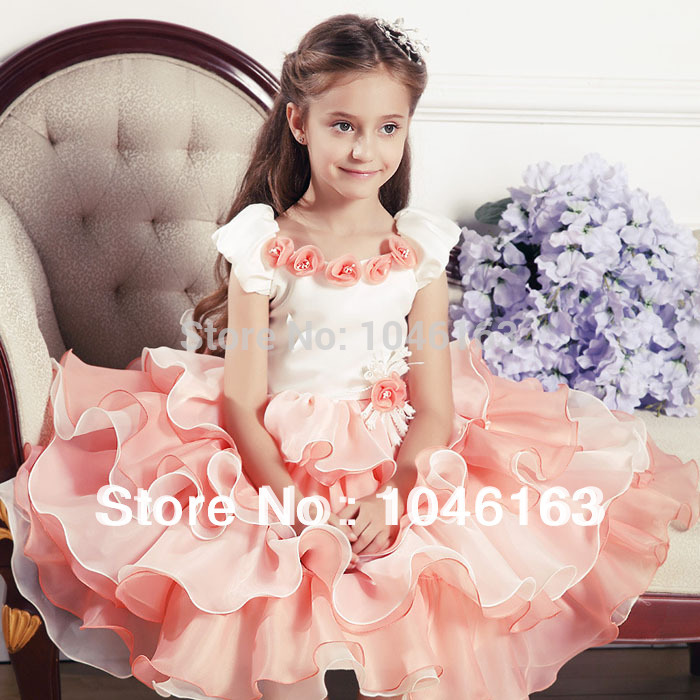 Hot sale New 2013 baby child Christmas dress Kids party dress children's princess dress toddler dress high-grade girl clothing(China (Mainland))