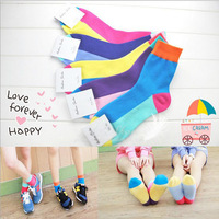 Women's socks Korean patchwork colors lady fashion socks girl combed cotton 1209 sylvia 1124133717