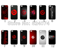 2013 the 12PCS/LOT(12style) BEATS BY DRE white hard case back cDover for iPhone 4 4th 4S+free shipping