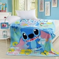 Stitch stitch coral fleece blanket air conditioning blanket cartoon blanket