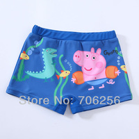 Free shipping,for 1-6 Years,Peppa pig Boy's swimwear baby swimwear kids' swimwear beach wear swimming trunks RPBS02