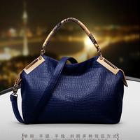 Fashion women's handbag fashion crocodile pattern vintage shoulder bag handbag messenger bag