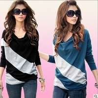 2012 clothes slim women's new arrival long-sleeve T-shirt plus size autumn women's basic shirt fashion