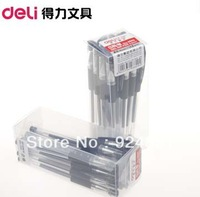 Deli 6609 Gel Ink Pens Hooded Imported Ink  Pen 0.5mm 36pcs/Lot(2 boxes) School Office Signature Free Shipping  2021