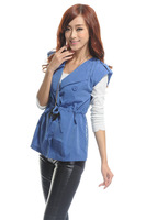 Free shiping Military drawstring lace back vest vest 124020