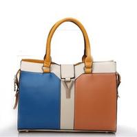 Brand oppo bag women's handbag brief fashion vintage color block handbag cross-body messenger bag