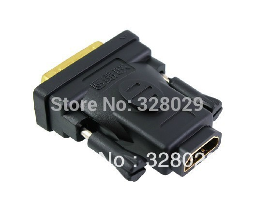 DVI Male to HDMI Female Converter High Quality HDMI Female and DVI Male Adapter Converter 20124 Free Shipping(China (Mainland))