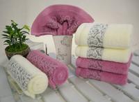 TOWEL ] 4pcs/lot Benefit Face Absorbent Fashion Jacuqard Towels Home Textile Novelty Households Bath Towel bathroom cotton