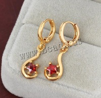 Free shipping!!!Brass Lever Back Earring,Jewelry Making, 18K gold plated, with cubic zirconia, nickel, lead & cadmium free
