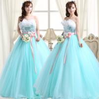 2013 wedding formal dress puff skirt long design multicolour evening dress the bride evening dress costume dress