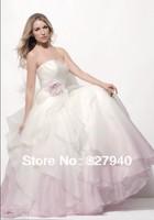 2014 New Style Sexy  Sweetheart A-line With falbala  Wedding Dress,Custom All Size!!!